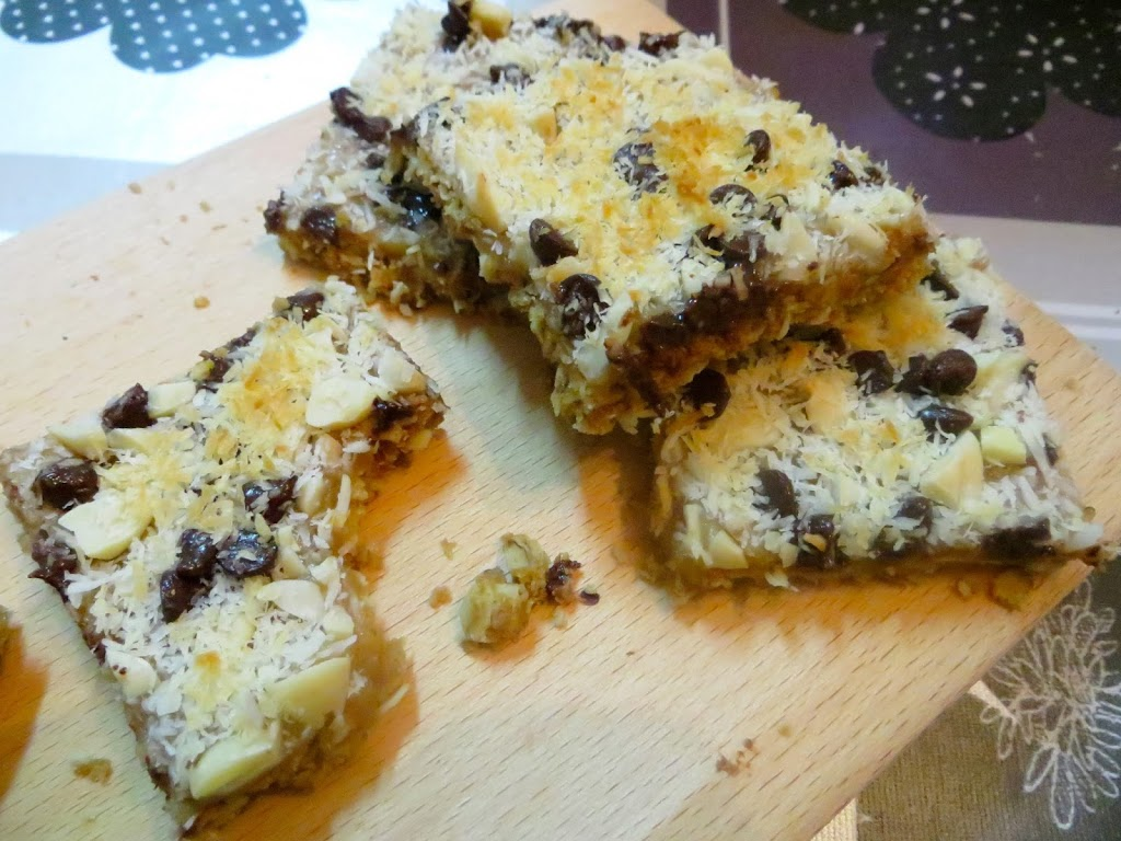 Salted Cinnamon Dulce De Leche Oat Bars with Toasted Coconut