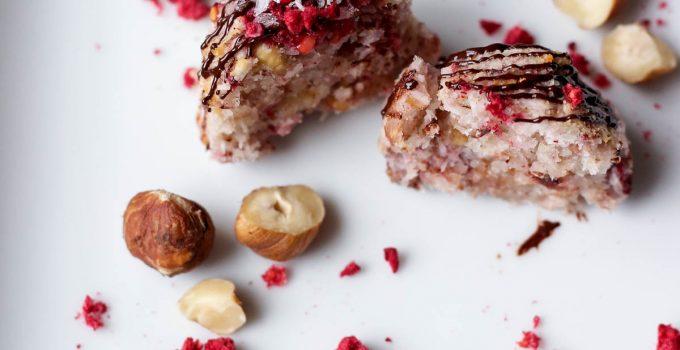 Raspberry & Hazelnut Coconut Macaroons