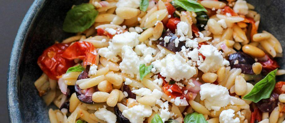 Slow Roasted Tomato Orzo Salad